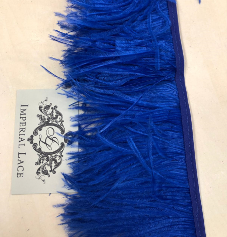 Blue ostrich feathers. Photo 4