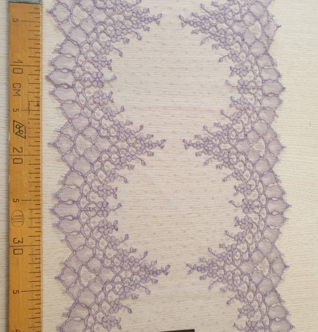 Lilac chantilly cotton lace trimming by Jean Bracq. Photo 6