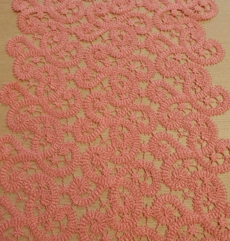 Pink macrame lace trimming. Photo 6