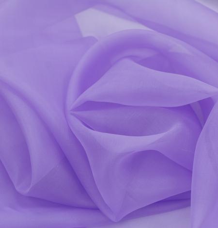 Lilac silk organza fabric. Photo 7