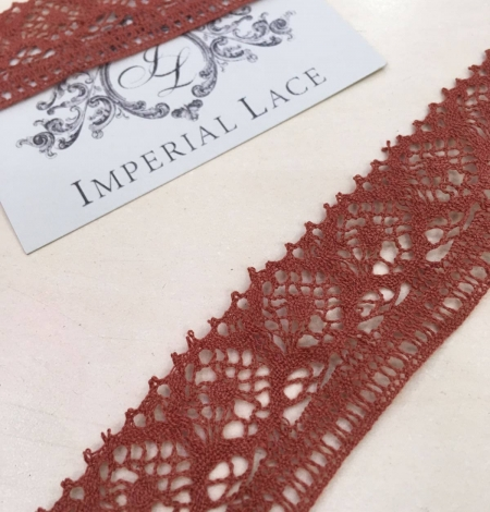 Brown Lace Trim. Photo 1