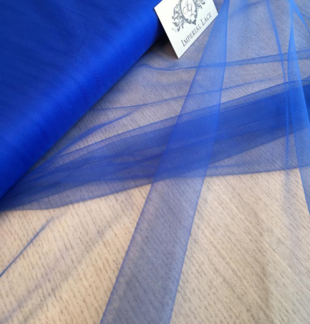 Blue tulle fabric. Photo 4