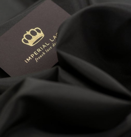 Dark brown Brunelli viscose with elastane lining fabric. Photo 5