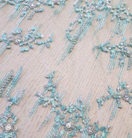 Sea green beaded lace. Photo 8