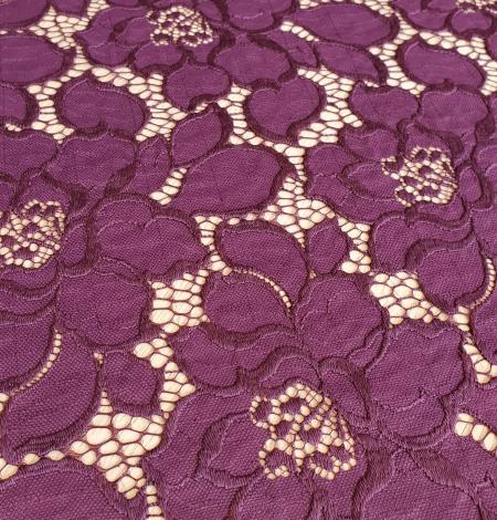 Plum lilac lace fabric. Photo 5