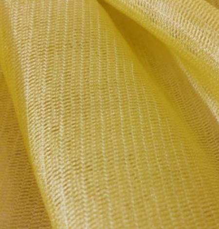 Yellow silk tulle fabric. Photo 2