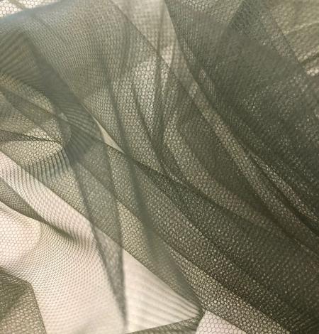 Soft khaki tulle fabric. Photo 6