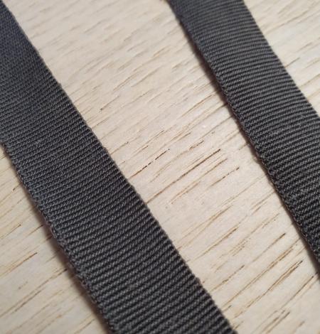 Dark grey grosgrain viscose ribbon . Photo 4
