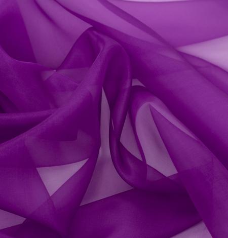 Purple silk organza fabric . Photo 5