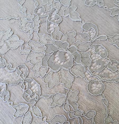 Beige lace fabric. Photo 3