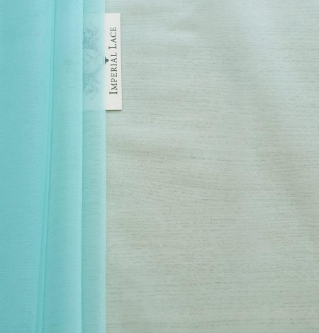 Tiffany blue tulle fabric. Photo 3
