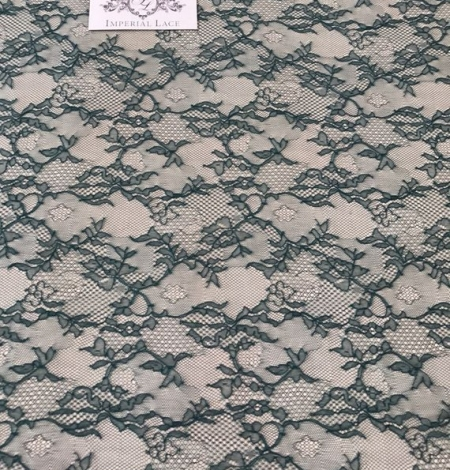 Deep teal green lace fabric. Photo 5