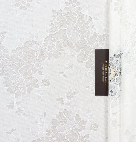 Ivory chantilly with fabric lace . Photo 1