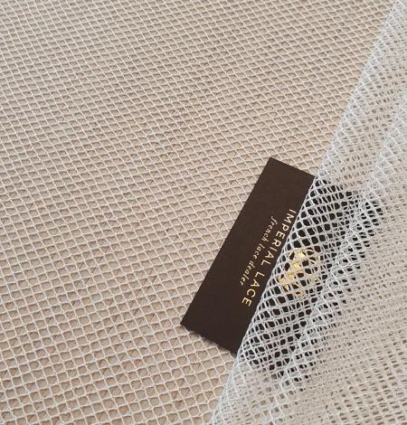 Ivory cotton chantilly lace fabric by Jean Bracq. Photo 1