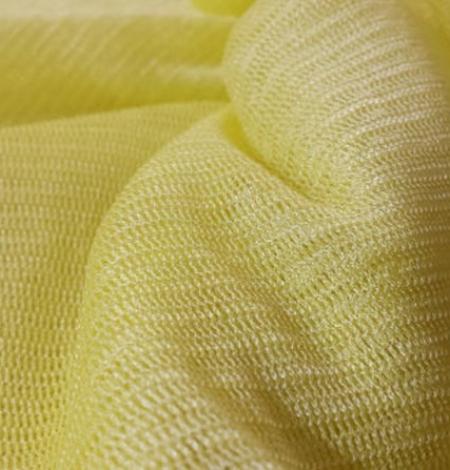 Yellow silk tulle fabric. Photo 3
