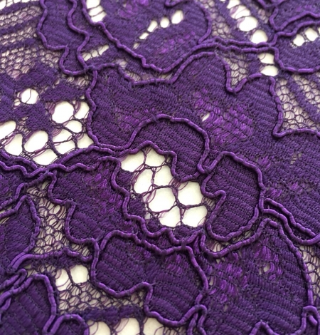 Violet guipure lace fabric. Photo 2
