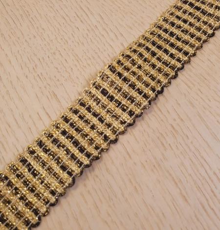 Gold and black elastic ribbon application. Photo 5