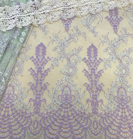 Multicolored lace fabric. Photo 2