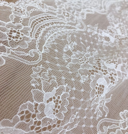 Ivory elastic lace trim. Photo 3