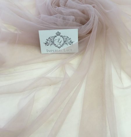 Old rose tulle fabric. Photo 1