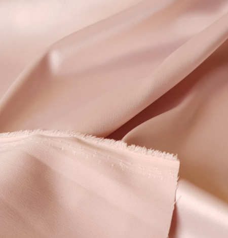 Powder pink satin fabric. Photo 7
