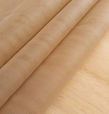 Grey brown tulle fabric. Photo 3