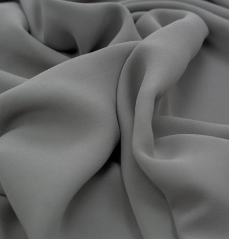 Dark gray silk crepe fabric. Photo 5