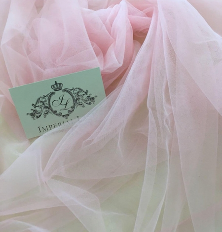 Baby pink tulle fabric. Photo 4