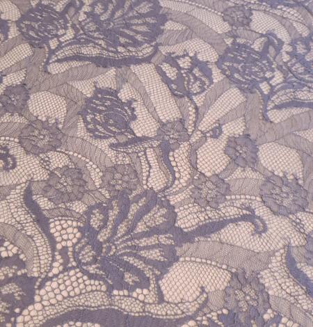 Graphite gray lace fabric. Photo 2