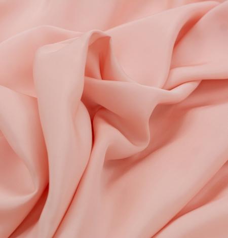Peach color thick silk fabric. Photo 8