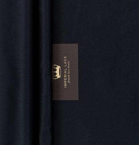 Black silk duchess fabric. Photo 9