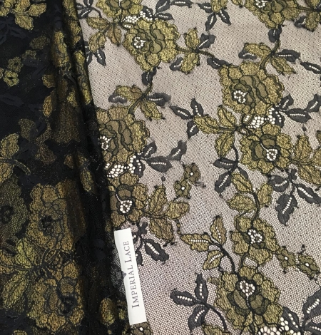 Black with gold lace fabric. Photo 3