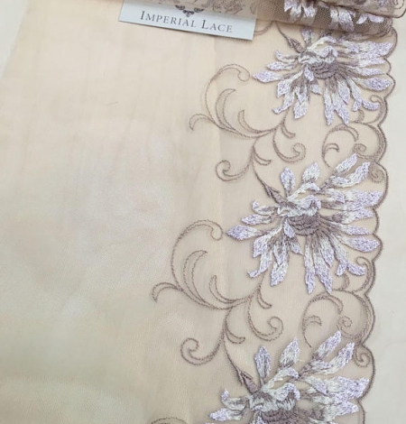 Nude soft embroidery Lace Trim. Photo 3