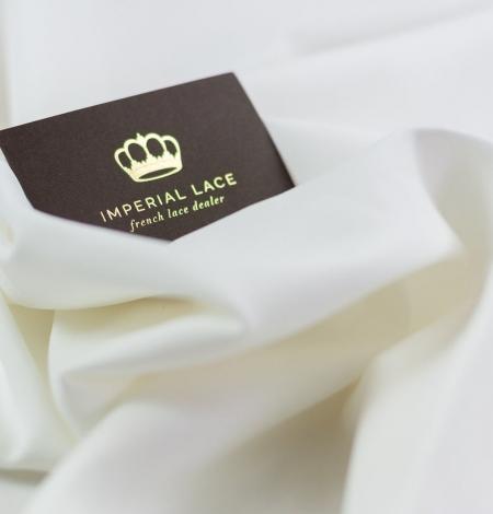 Snowwhite Cadi silk with cotton and elastane. Photo 1