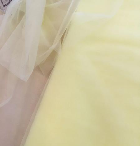 Citrus yellow tulle fabric. Photo 5