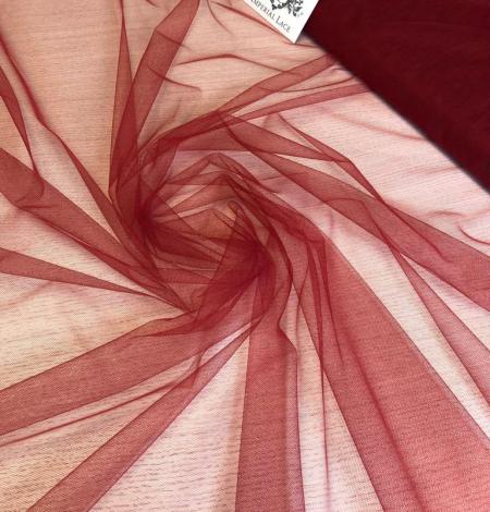 Dark red tulle fabric. Photo 2