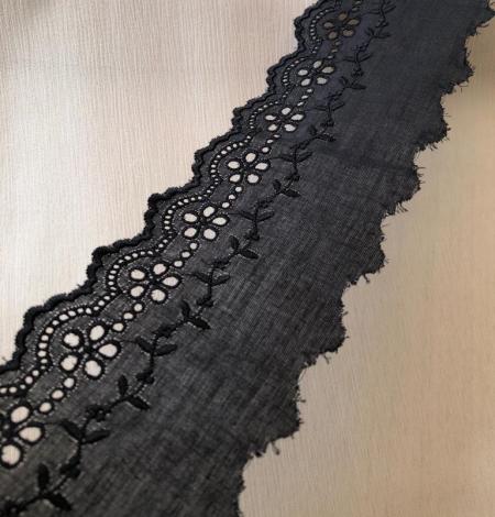 Black cotton lace trim. Photo 2
