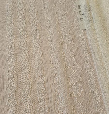 Champagne lace fabric. Photo 2