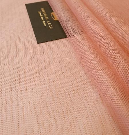 Darkish peachy pink silk tulle fabric. Photo 3