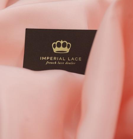 Peach color thick silk fabric. Photo 4
