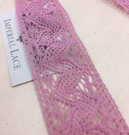 Old rose cotton lace trim. Photo 2