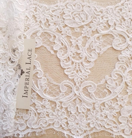 White Lace Trim French Lace. Photo 6