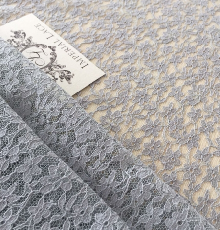 Grey Sophie Hallette lace fabric. Photo 3