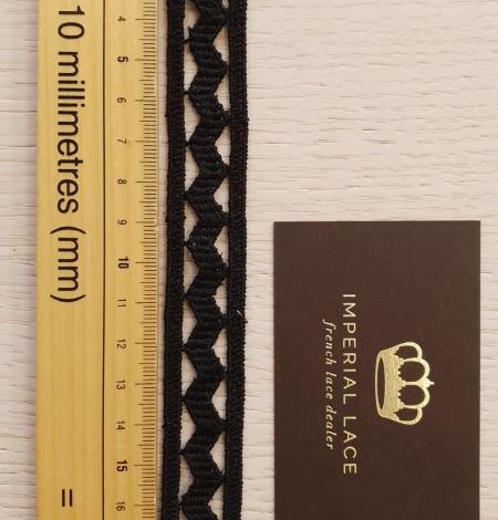 Black cotton macrame lace trimming. Photo 6