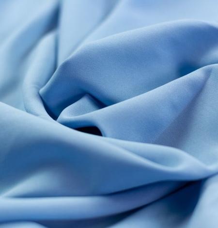 Blue silk with elastane crepe fabric. Photo 2