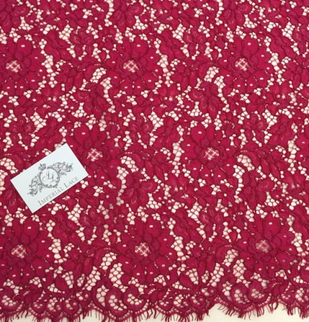 Burgundy Lace Fabric. Photo 4