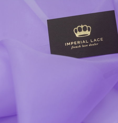 Lilac silk organza fabric. Photo 4