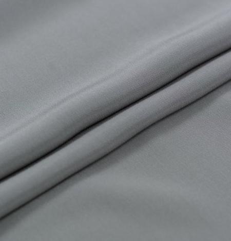 Grey greenish Mulberry silk crepe fabric. Photo 7