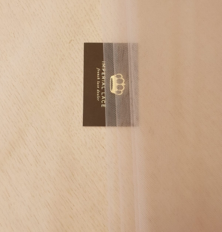 Beige invisible tulle fabric from Italy. Photo 8