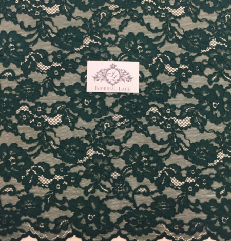 Green Lace Fabric. Photo 5